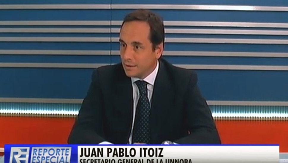 El secretario general de la Unnoba, Juan Pablo Itoiz, participó del ciclo de TeleJunín Reporte Especial.