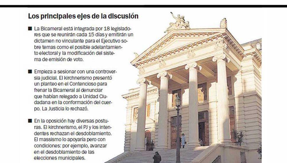 La Legislatura ya empieza a debatir si se adelantan o no los comicios en la Provincia