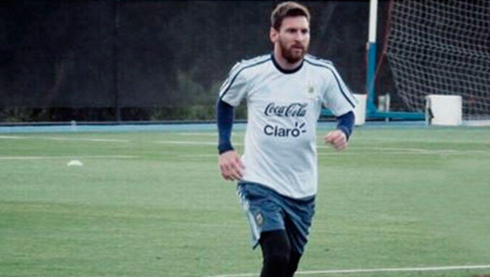 Messi posteó una foto entrenando en Melbourne