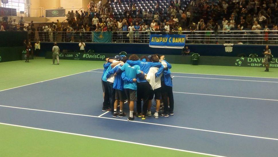 Argentina perdió con Kazajistán y se fue al descenso en la Davis