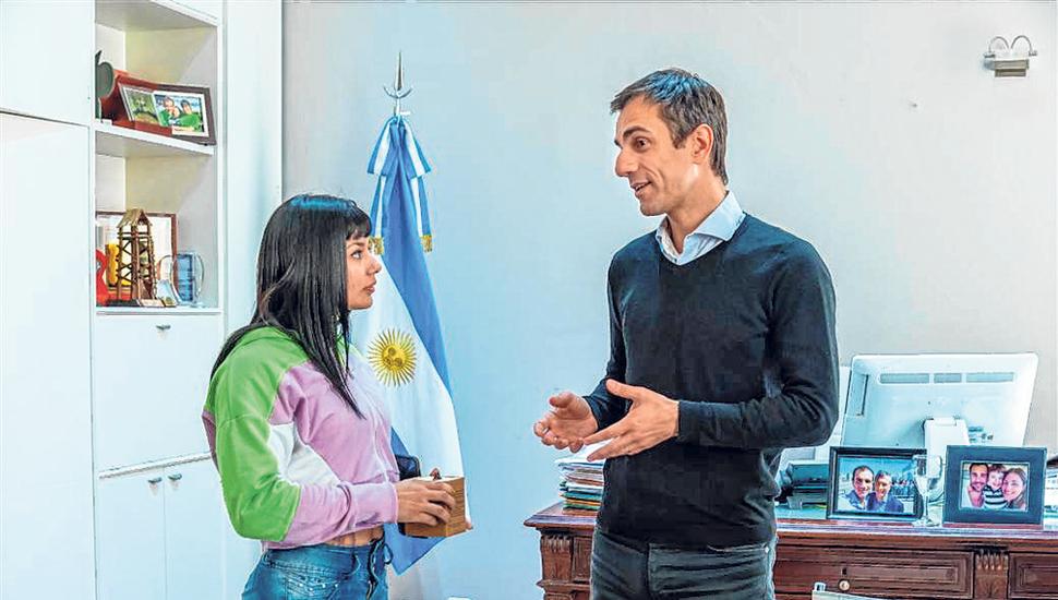 """La Indiecita"" López junto a Pablo Petrecca. ."