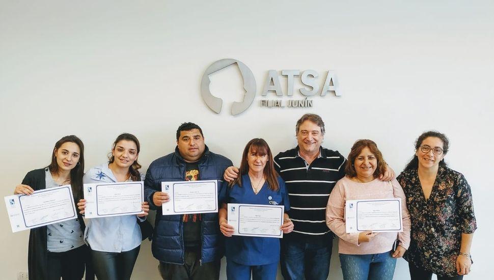 ATSA entregó certificados del curso sobre control de infecciones