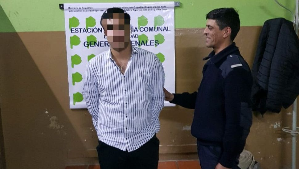 Aprehendieron a un joven de 18 años en Arenales