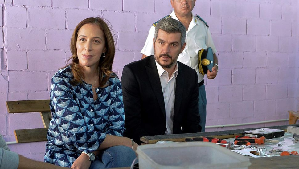 María Eugenia Vidal junto a Marcos Peña.