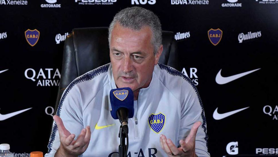 Gustavo Alfaro, ayer, en la conferencia de prensa.