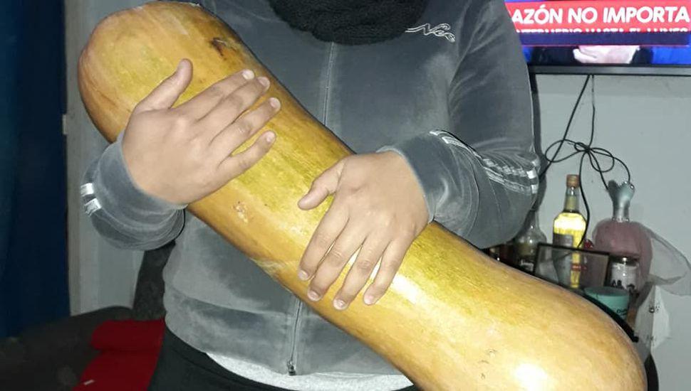 Una vecina de Chacabuco cosechó una calabaza gigante
