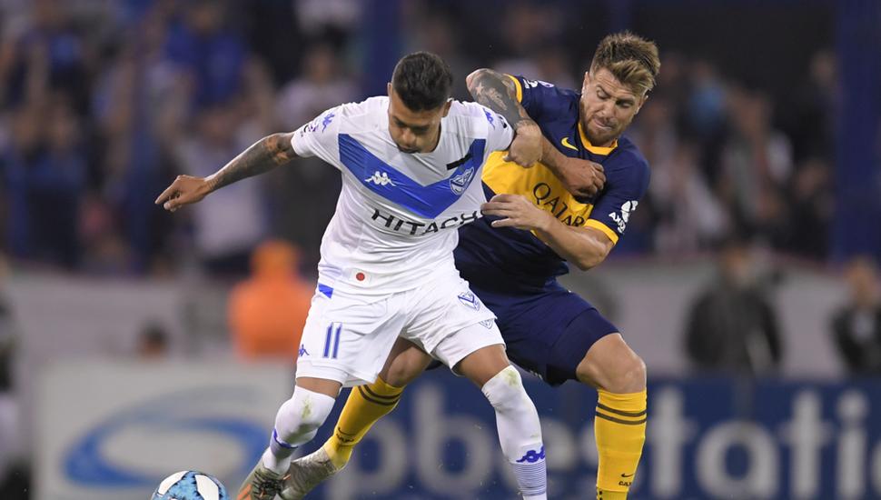 Escena del empate entre Vélez y Boca.
