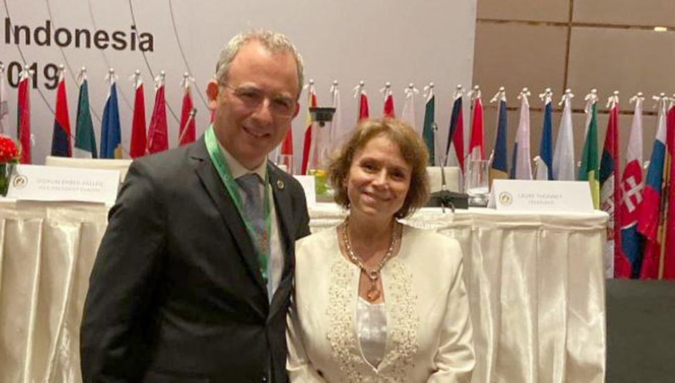 El nombramiento tuvo lugar durante la sesión inaugural del 29º Congreso Internacional del Notariado, en Yakarta, Indonesia.