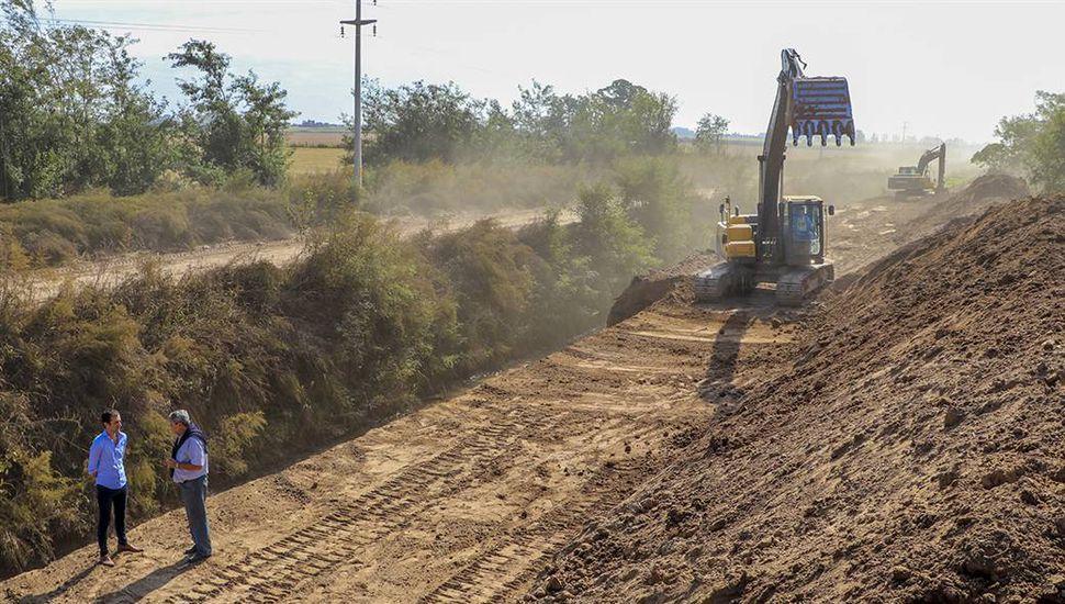 Afirman que queda menos de un kilómetro para que finalice la obra del desagüe norte