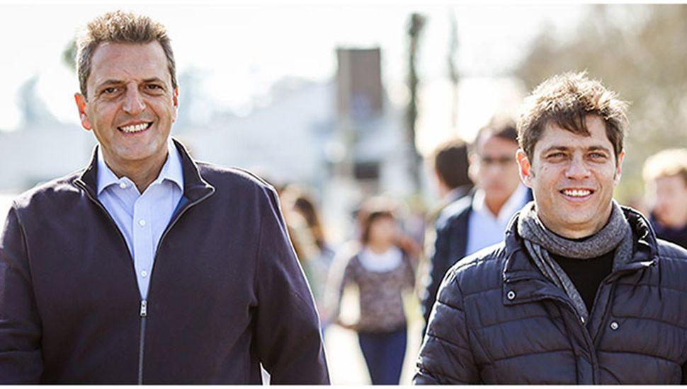 Sergio Massa y Kicillof, en campaña.