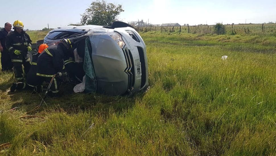 Cinco heridos en un choque sobre Ruta 7, cerca de Saforcada