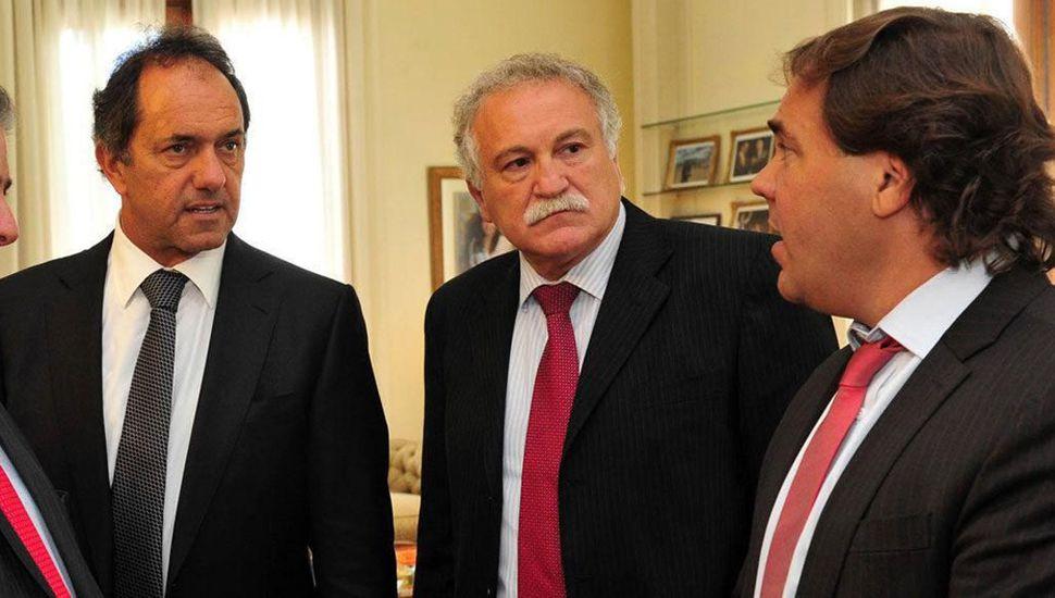Antonio La Scaleia, ex titular de Ioma; Alberto Pérez, ex jefe de Gabinete, muy cercanos a Daniel Scioli.