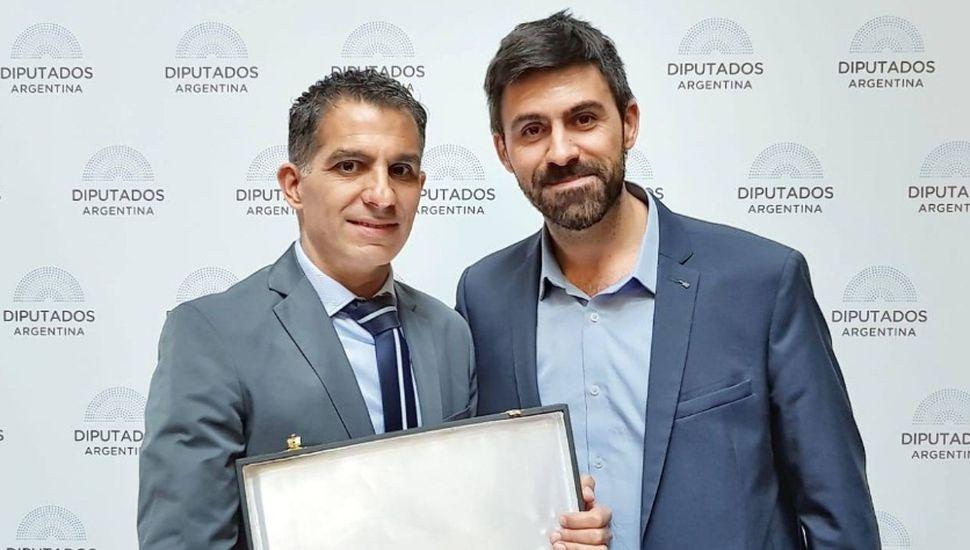 El pintense Hernán Maidana fue reconocido en la Cámara de Diputados