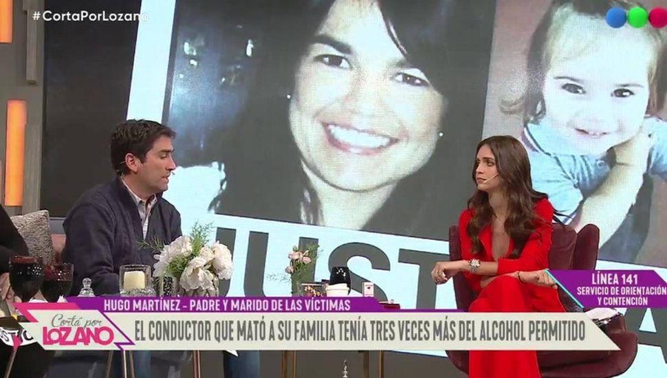Hugo Martínez, en Telefé.