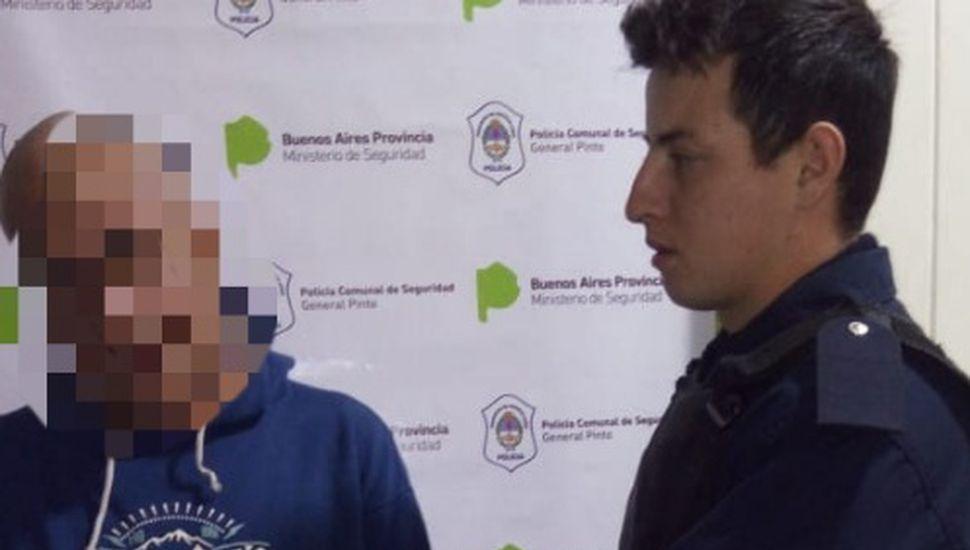Aprehendieron a un hombre de 56 años en Pinto