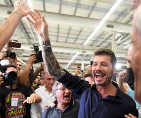 Marcelo Tinelli festejó el triunfo.