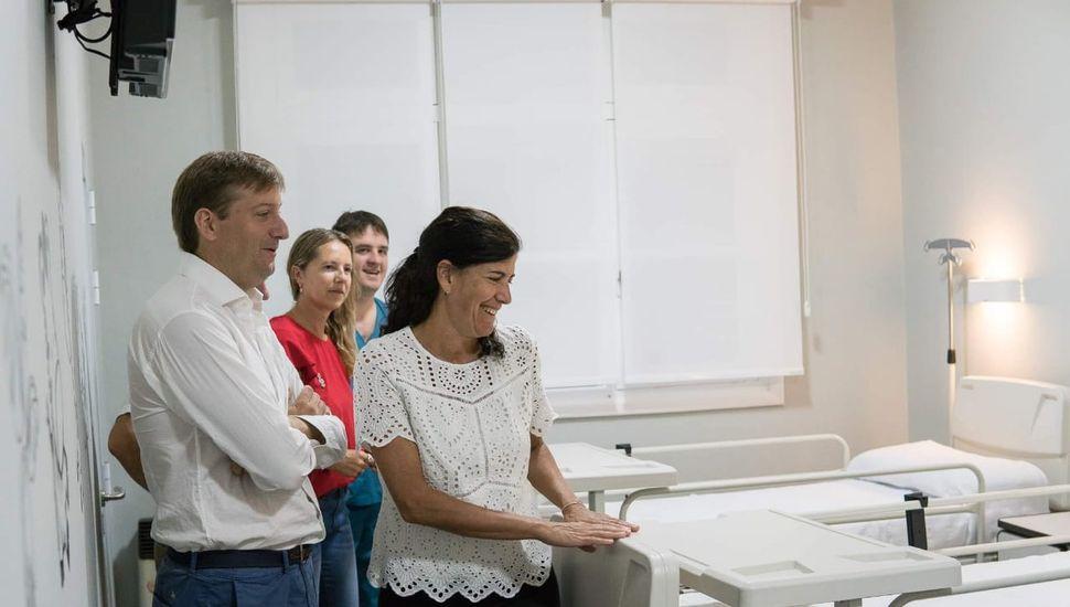 Inauguraron una nueva habitación en el Hospital de Viamonte