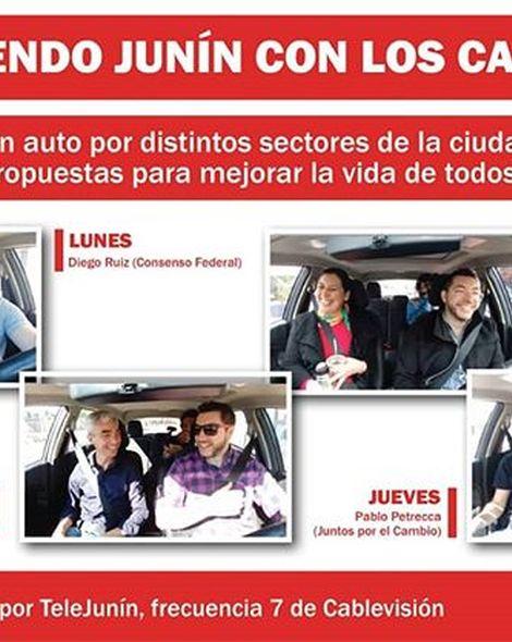 Hoy a las 20 comienza Recorriendo Junín con los Candidatos a Intendente por Telejunin