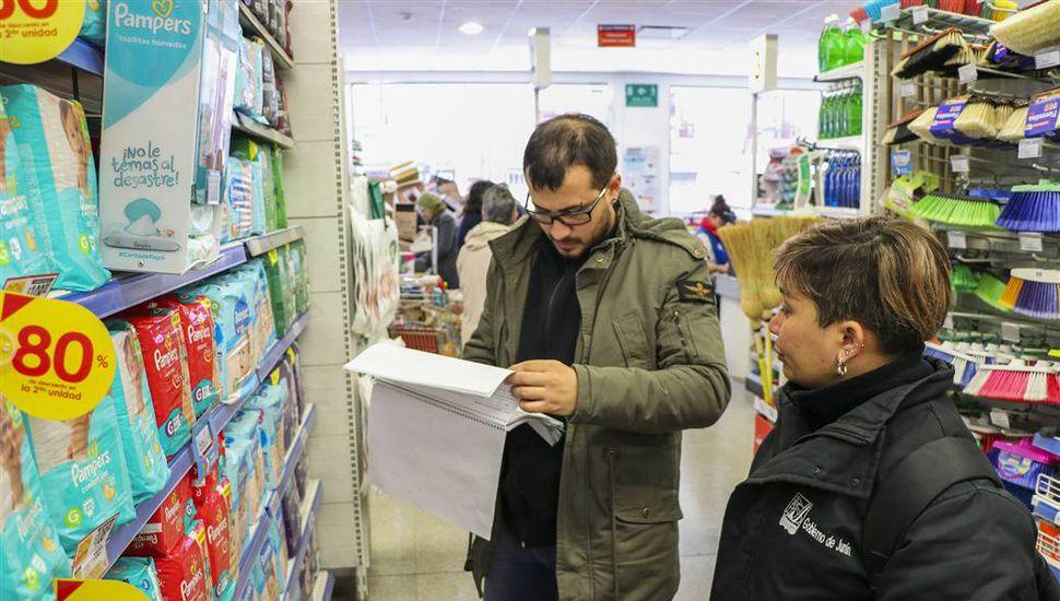Se realiza la fiscalización de los productos de Precios Cuidados