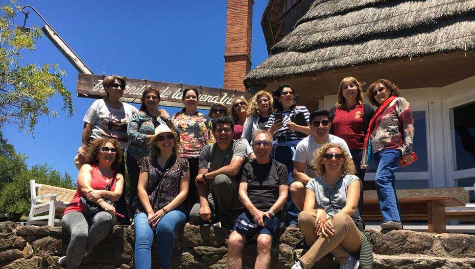 El grupo de escritores viajó días atrás a un intercambio en Uruguay.