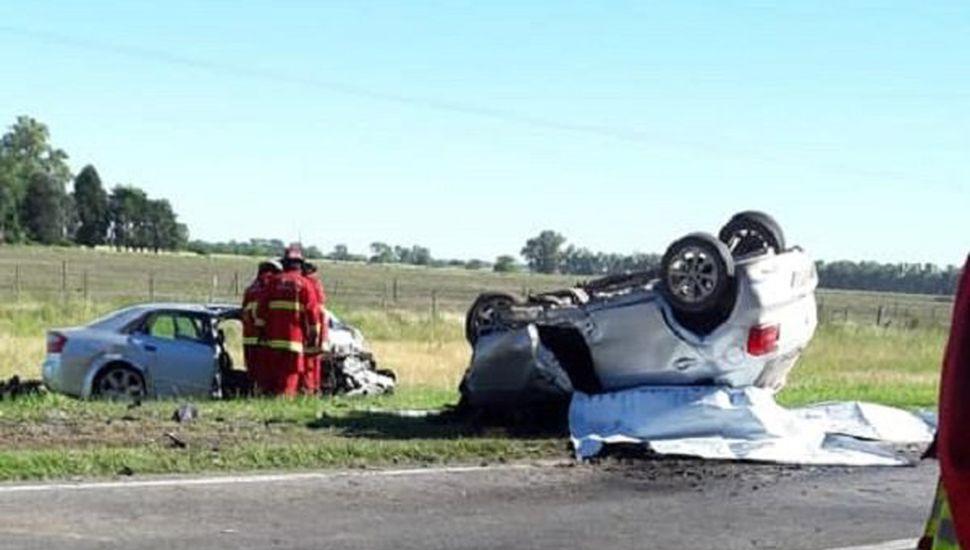 Suipacha: tres muertos en choque frontal sobre Ruta 5