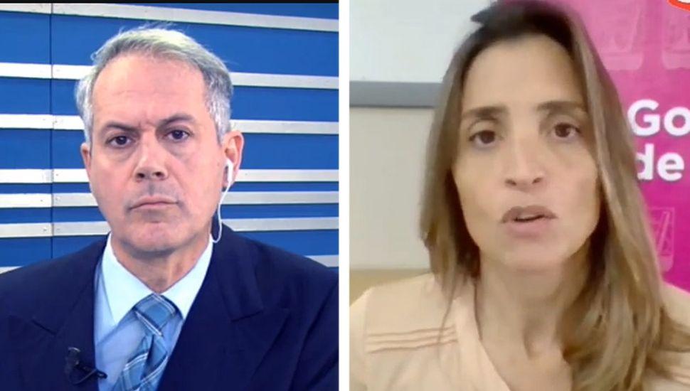 La secretaria de Gobierno, Agustina de Miguel, entrevistada por TeleJunín Noticias.