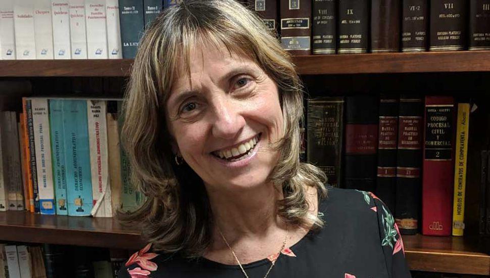 La dra. María Marcela Pelegrin, jueza del Juzgado Nº2 de Familia.