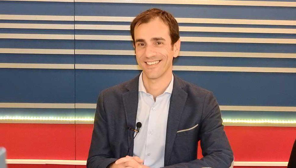 El intendente Pablo Petrecca, en los estudios de TeleJunín.