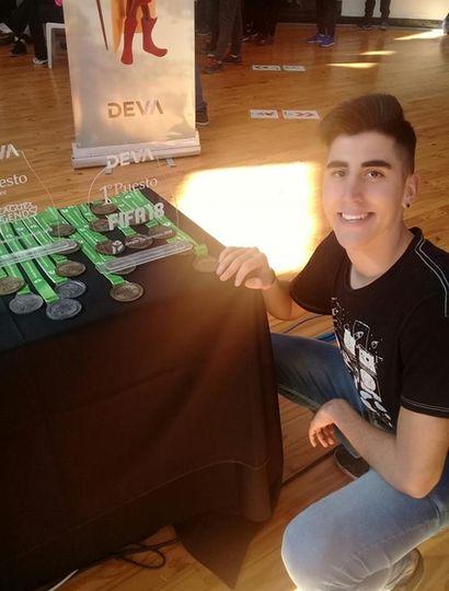Santiago Giagante, ganador del oro en Juegos Electrónicos, en los Bonaerenses 2018.