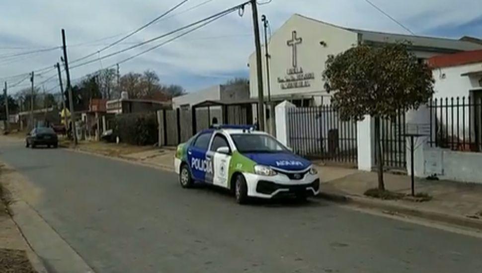Personal policial trabajó en el lugar.