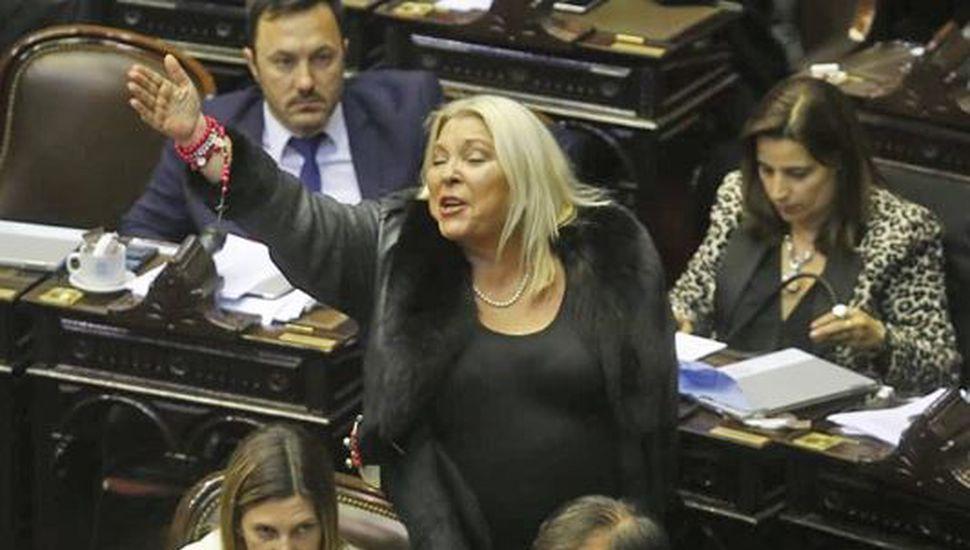 """Elisa Carrió, tras la votación: """"No he hablado para preservar la unidad de Cambiemos"""""""