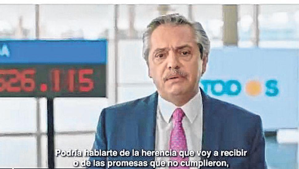 Alberto Fernández en la publicidad.