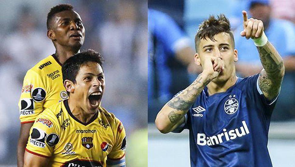 Barcelona de Ecuador recibe a Gremio de Brasil en una de las semifinales de la Libertadores.