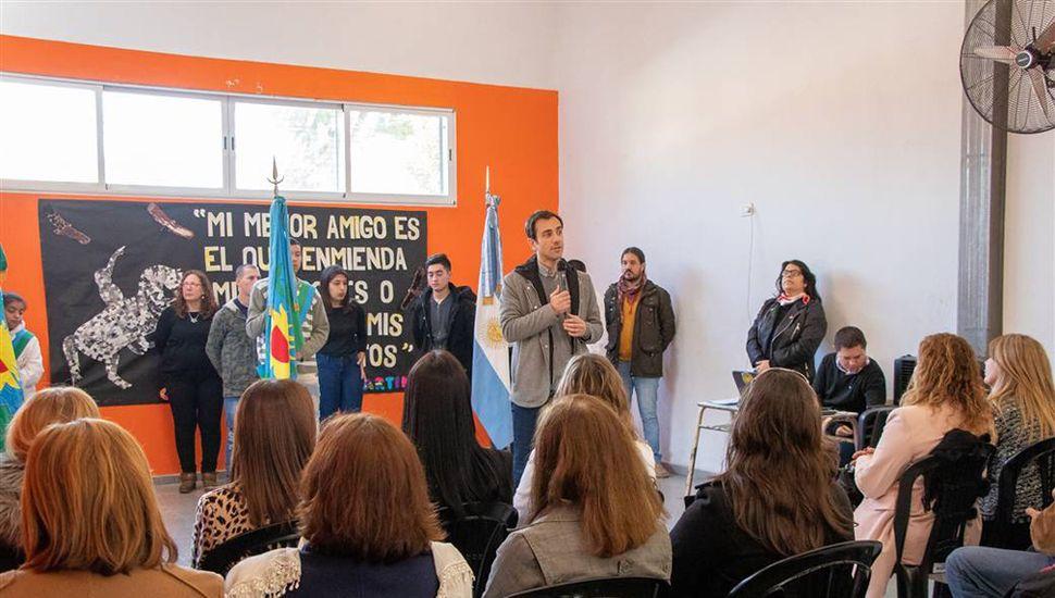 El evento tuvo lugar en el Salón de Usos Múltiples (SUM) de la Escuela Secundaria 16.