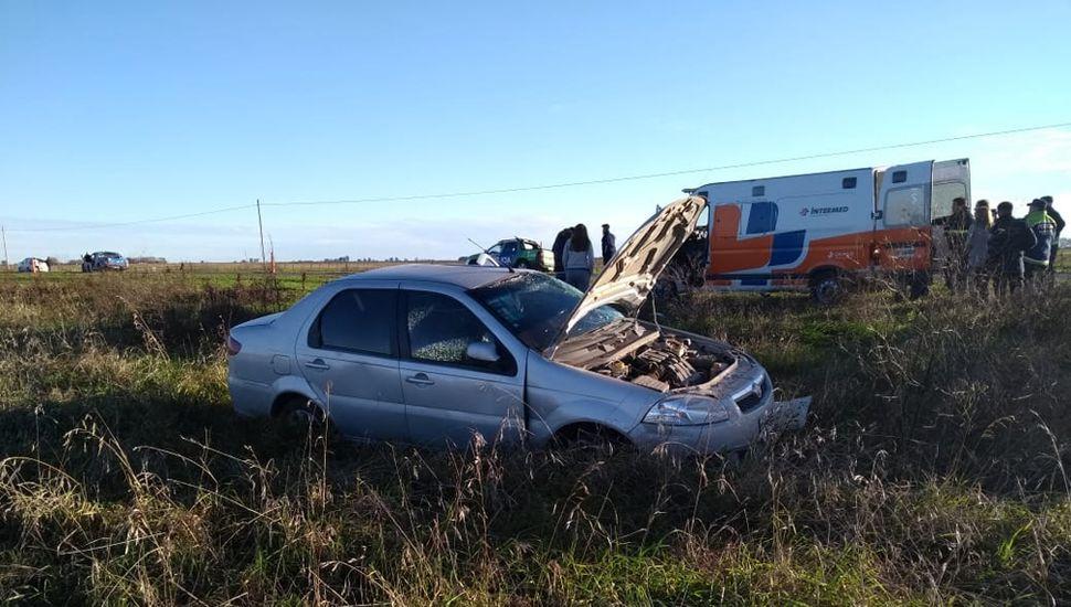 El estado en el que quedó el vehículo siniestrado.