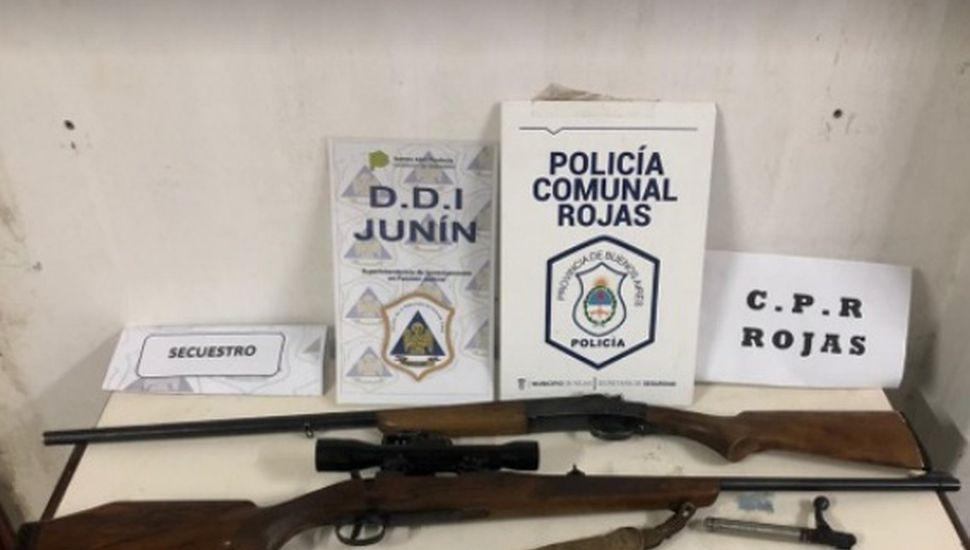 Un aprehendido en Rojas por tenencia ilegal de armas de guerra
