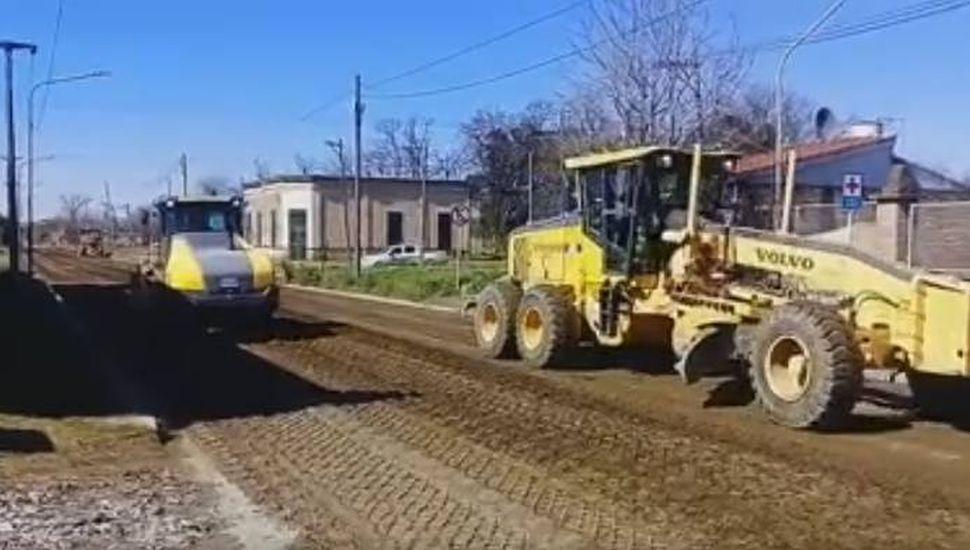 Arrancaron las obras en Alberdi, entre Ruta 188 y Carlos Gardel.