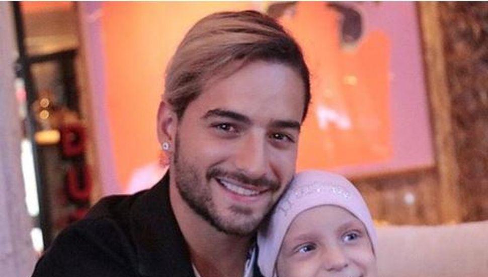El gesto de Maluma con una nena argentina que padece cáncer