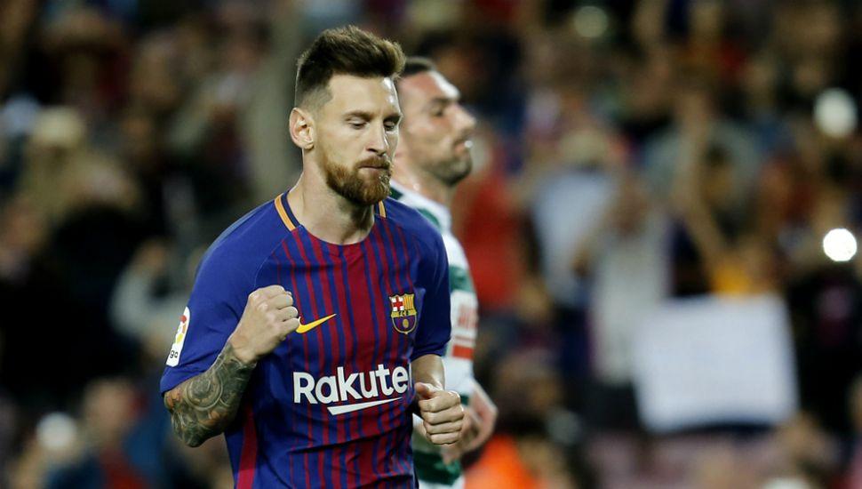 Messi volvió a brillar y marcó  cuatro en la goleada del Barcelona