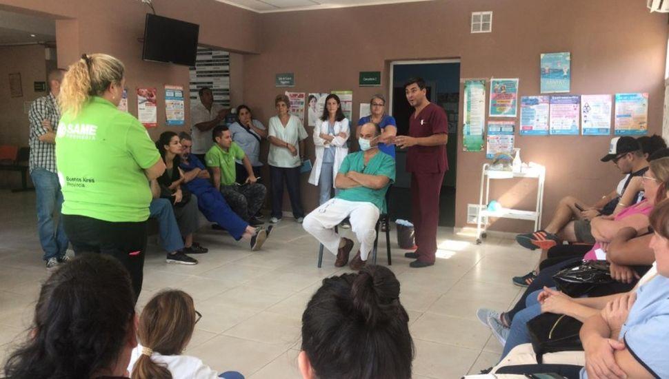 Coronavirus: realizaron un simulacro en el hospital