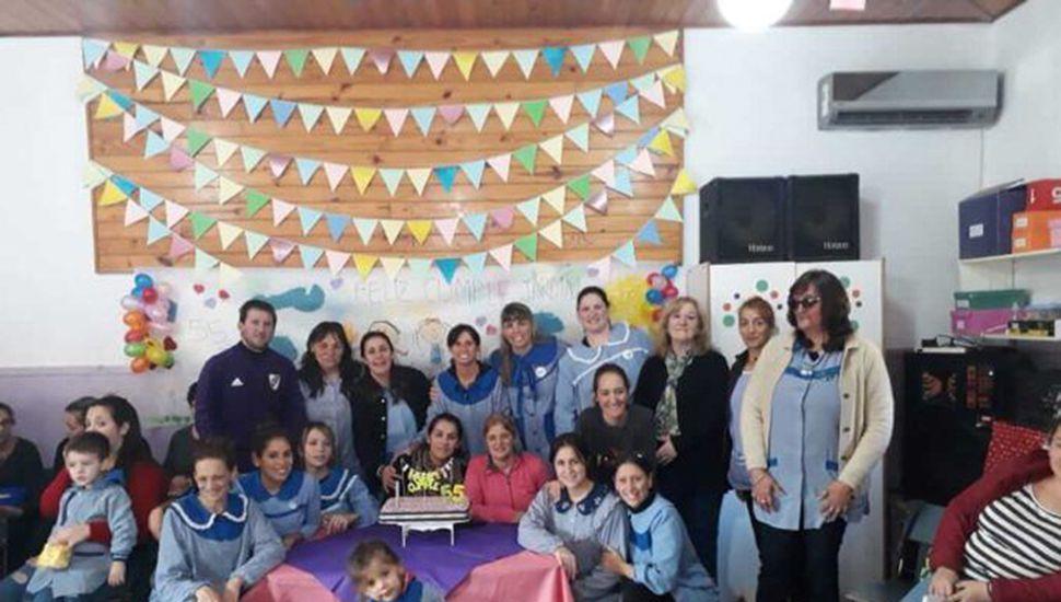 La comunidad educativa celebró el cumpleaños del jardín.