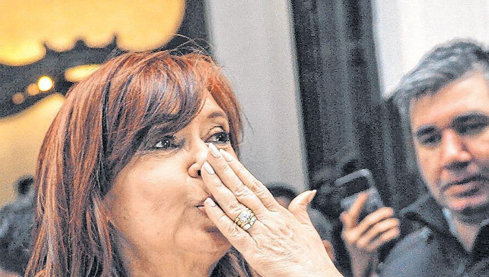 Cristina, ayer, en el Instituto Patria.
