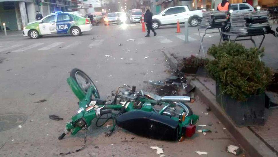 El terrible accidente en pleno centro en el que perdió la vida Francina Marcaccio.