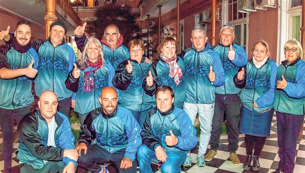 La delegación que representará a Junín en Mar del Plata.