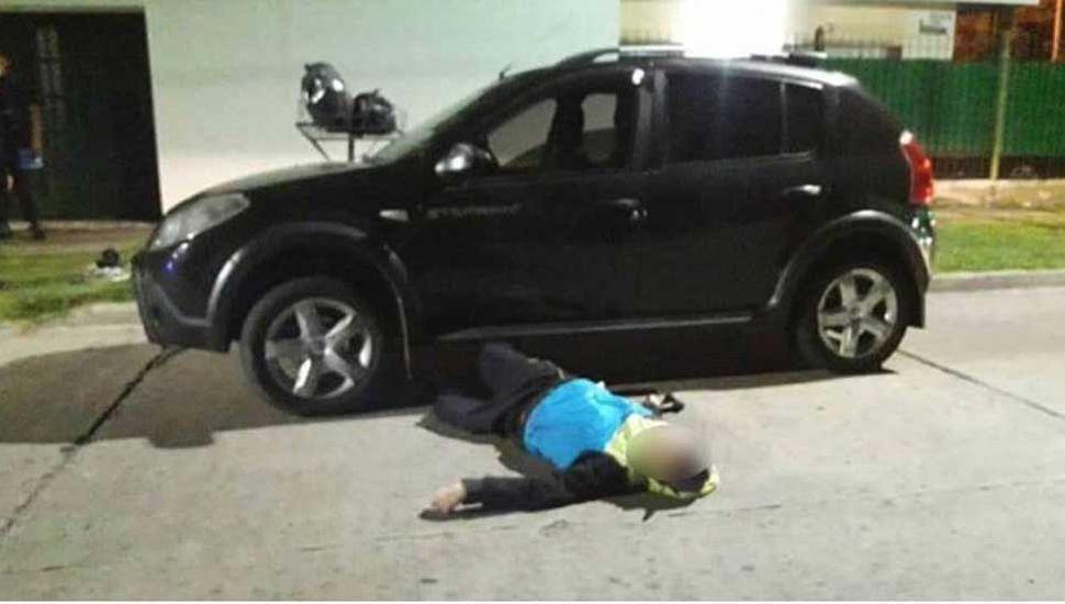 Gendarme que conducía  un Uber mató a un delincuente