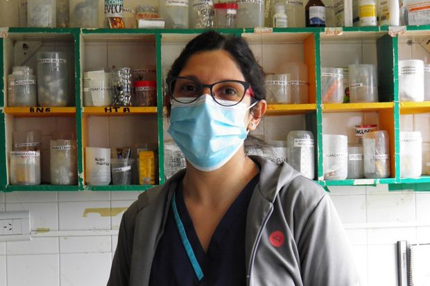 Solange Gómez, enfermera.