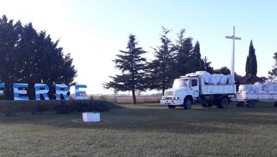 Arenales recicla: llegó el primer camión de residuos secos de Ferré y La Trinidad