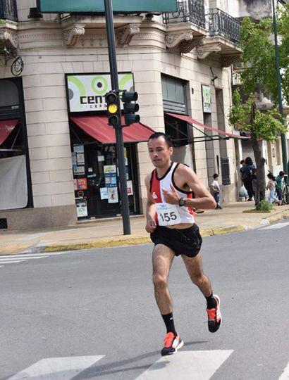 Mauro Cabral terminó segundo en la competencia pedestre.