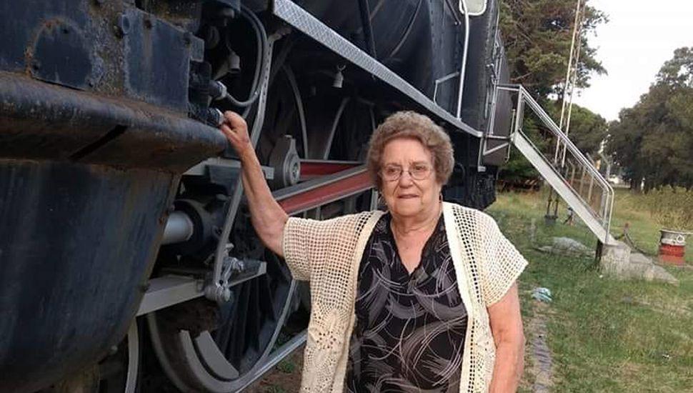 Abanderada de la lucha  por los ferrocarriles