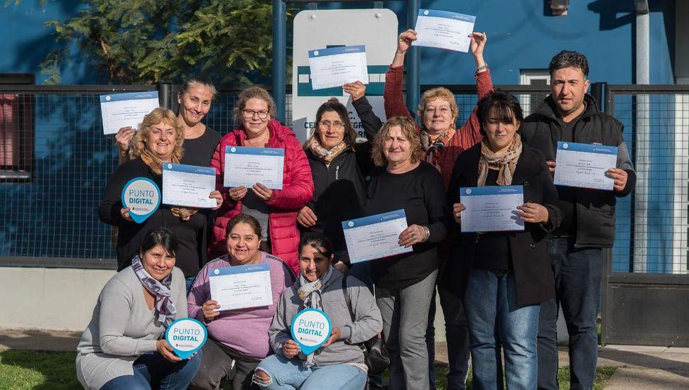 Vecinos de Baigorrita terminaron el curso de alfabetización digital